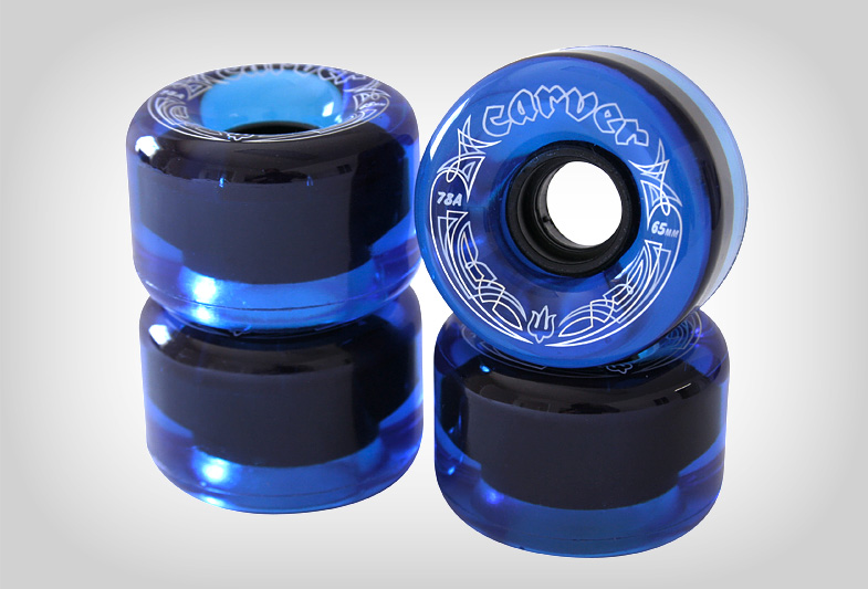 "Carver Skateboards ""Radial"" Wheel Graphic (Translucent Blue Colorway)"