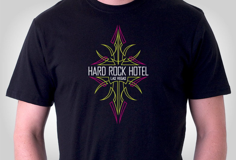 Hard Rock Hotel & Casino Pinstripe T-Shirt