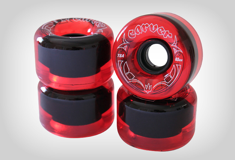 """Carver Skateboards """"Radial"""" Wheel Graphic (Translucent Red Colorway)"""
